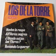 """Discos de vinilo: LOS DE LA TORRE - EP VINILO 7"""" - EDITADO EN ESPAÑA - VUELVE LA RASPA + 3 - VERGARA 1968. Lote 195392812"""