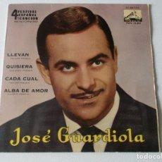 Discos de vinilo: JOSE GUARDIOLA - FESTIVAL BENIDORM 62, EP, LLEVAN + 3 , AÑO 1962. Lote 195393286