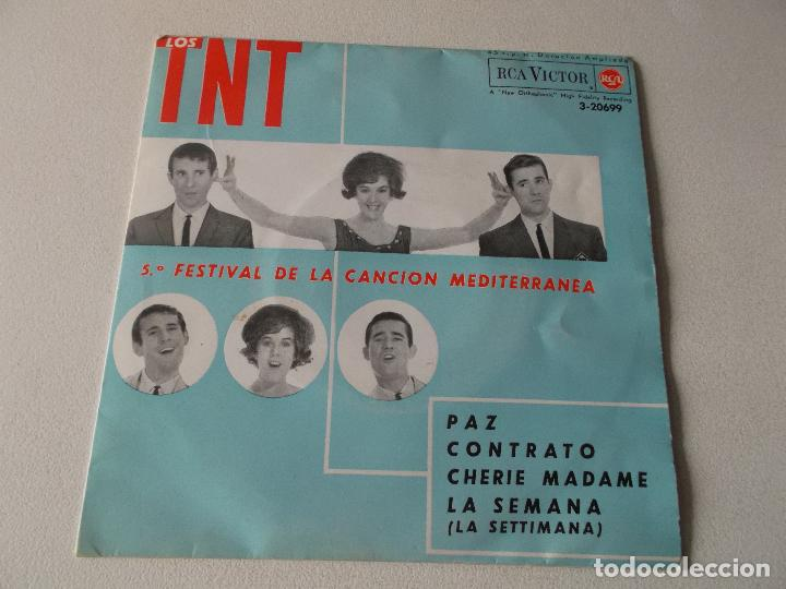 LOS TNT - 5.º FESTIVAL DE LA CANCIÓN MEDITERRÁNEA - PAZ / CONTRATO / CHERIE MADAME / LA SEMANA - EP. (Música - Discos de Vinilo - EPs - Disco y Dance)