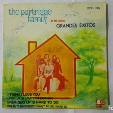 Discos de vinilo: THE PARTRIDGE FAMILY - I THINK I LOVE YOU Y TRES MAS, DISCOS PHONOGRAM. Lote 195394921