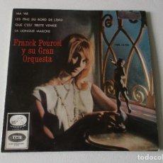 Discos de vinilo: FRANK POURCEL Y SU GRAN ORQUEST. MA VIE / QUE CEST TRSITE VENIS EP SPAIN 1964. Lote 195395506
