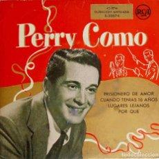Discos de vinilo: PERRY COMO. PRISIONERO DE AMOR. EP ESPAÑA. Lote 195398283
