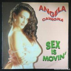 Discos de vinilo: ANGELA CAVAGNA – SEX IS MOVIN' BLANCO UY NEGRO 1990 SPAIN ITALO DISCO DISCO SIN REPRODUCIR!. Lote 195398408