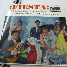 Discos de vinilo: ANTONIO ARENAS Y SU GRUPO FLAMENCO (FIESTA)-EL PUEBLO QUIERE ENTERARSE + EL BLANQUEA TU FACHA + VEN . Lote 195398846