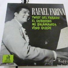 Discos de vinilo: RAFAEL FARINA - TWIST DEL FARAON + 3 - EP -N. Lote 195399411
