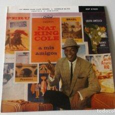 Discos de vinilo: NAT KING COLE / YO VENDO UNOS OJOS NEGROS + 3 (EP 1960). Lote 195403363
