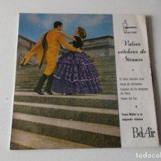 Discos de vinilo: FRANZ WEBER Y SU ORQUESTA DE VIENA, VALSES CELEBRES, 1961. Lote 195403946