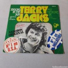 Discos de vinilo: TERRY JACKS - SEASONS IN THE SUN - PUT THE BONE IN. Lote 195407893