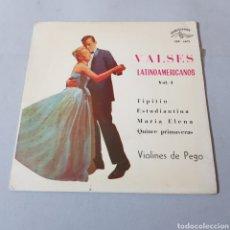 Discos de vinilo: VALSES LATINOAMERICANOS- VIOLINES DE PEGO - TIPITIN - ESTUDIANTINA - MARIA ELENA - QUINCE PRIMAVERAS. Lote 195408536
