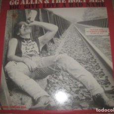 Discos de vinilo: G G ALLIN&THE HOLY MEN YOU GIVE LOVE EDICION LIMITA (HOMESTEAD-1987) ENCARTE OG USA PUNK VISCERAL WC. Lote 195409265