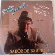 Discos de vinilo: GATO PEREZ - SABOR DE BARRIO EMI PROMOCIONAL - 1983. Lote 195409641