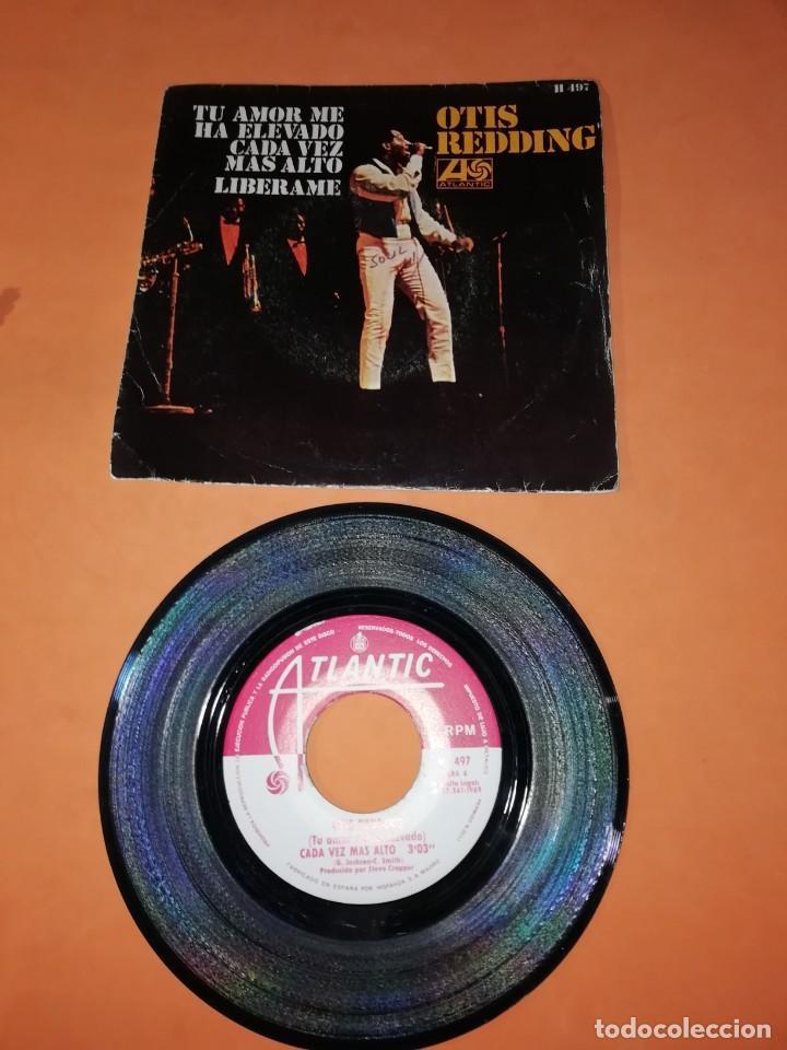 OTIS REDDING. TU AMOR ME HA ELEVADO CADA VEZ MAS ALTO. LIBERAME. ATLANTIC RECORDS 1969 (Música - Discos - Singles Vinilo - Funk, Soul y Black Music)