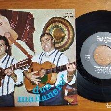 Discos de vinilo: DISCO SINGLE DEL DUO MAÑANERO. FONO GUANCHE-AÑO 1972. EXTREMADAMENTE RARO. MUY BUEN ESTADO.. Lote 195412798
