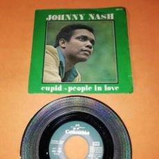 Discos de vinilo: JOHNNY NASH. CUPID. PEOPLE IN LOVE . COLUMBIA RECORDS. 1969.. Lote 195413557