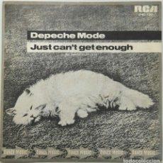 Discos de vinilo: DEPECHE MODE -JUST CAN'T GET ENOUGH. Lote 195413678