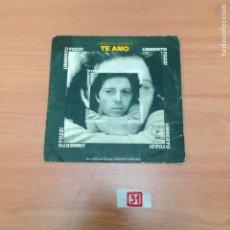 Discos de vinilo: TE AMO. Lote 195414441