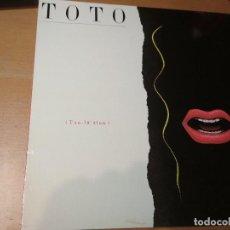 Discos de vinilo: TOTO ISOLATION LP SPAIN INSERTO. Lote 195415166