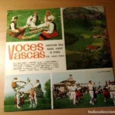 Discos de vinilo: VOCES VASCAS - POR LA AGRUPACIÓN CORAL MANUEL IRADIER DE VITORIA. LP DE PHILLIPS DEL AÑO 1.964. Lote 195415350