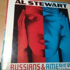 Discos de vinilo: AL STEWART RUSSIANS & AMERICANS LP SPAIN 1984. Lote 195415358