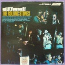 Discos de vinilo: ROLLING STONES - GOT LIVE IF YOU WANT IT! - LP EDICIÓN US. Lote 195416316