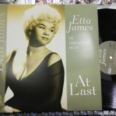 Discos de vinilo: ETTA JAMES LP 19 GREATEST HITS AT LAST 2013. Lote 195424148