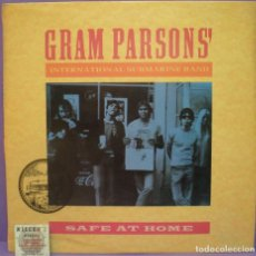 Discos de vinilo: GRAM PARSONS' INTERNATIONAL SUBMARINE BAND - SAFE AT HOME - LP. Lote 195424177