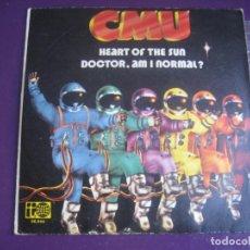 Discos de vinilo: CMU SG BELTER 1973 - HEART OF THE SUN / DOCTOR AM I NORMAL? - ROCK PROGRESIVO 70'S - SIN APENAS USO. Lote 195428817