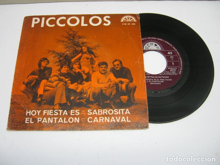 PICCOLOS RARO SINGLE PROMO EP 45 RPM DE LA CASA BERTA DE 1972 (Música - Discos de Vinilo - EPs - Grupos Españoles de los 70 y 80)