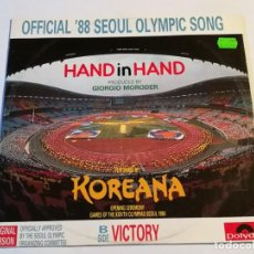 Discos de vinilo: KOREANA - HAND IN HAND - 1988. Lote 195433496