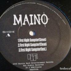 Discos de vinilo: MAINO - FIRST NIGHT GANGSTER. Lote 195433545