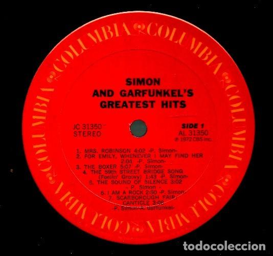 Discos de vinilo: V481 - SIMON AND GARFUNKEL. GREATEST HITS. LP VINILO - Foto 2 - 195434375