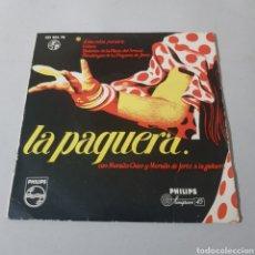 Discos de vinilo: LA PAQUERA CON MORAITO CHICO Y MORAITO DE JEREZ A LA GUITARRA. Lote 195436045