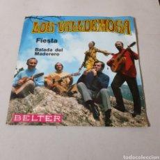 Discos de vinilo: LOS VALLDEMOSA - FIESTA - BALADA DEL MADERERO. Lote 195438586