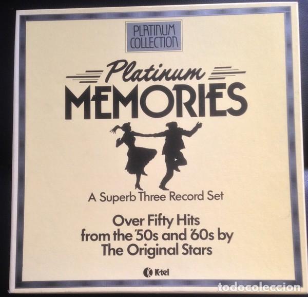 PLATINUM MEMORIES (3 × VINYL, LP, COMPILATION. ESPAÑA, 1982) (Música - Discos - LP Vinilo - Pop - Rock Extranjero de los 50 y 60)