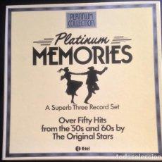 Discos de vinilo: PLATINUM MEMORIES (3 × VINYL, LP, COMPILATION. ESPAÑA, 1982). Lote 195448192