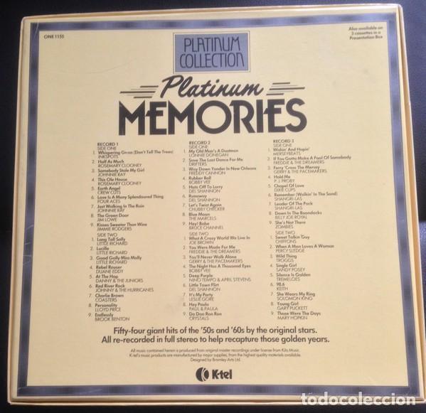 Discos de vinilo: Platinum Memories (3 × Vinyl, LP, Compilation. España, 1982) - Foto 2 - 195448192