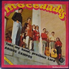 Discos de vinilo: MOCEDADES. TAKE MY HAND, PRECIOUS LORD. SINGLE. Lote 195452216