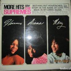Discos de vinilo: THE SUPREMES - MORE HITS BY THE SUPREMES LP - ORIGINAL INGLES - TAMLA MOTOWN RECORDS 1965 - STEREO -. Lote 195455593