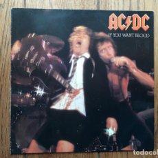 Discos de vinilo: AC/DC - IF YOU WANT BLOOD . Lote 195455791