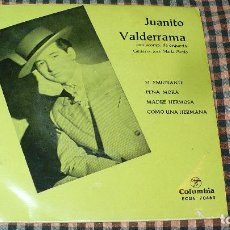 Discos de vinilo: JUANITO VALDERRAMA – EL EMIGRANTE, PENA MORA, MADRE HERMOSA, COMO UNA HERMANA,. Lote 195456071