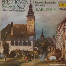 Discos de vinilo: BEETHOVEN SINFONÍA Nº 7 ORQUESTRA DE FILARMONICA DE BERLIN KARL BOHN - 1979. Lote 195456305