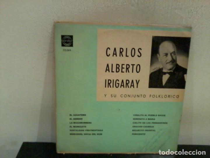 CARLOS ALBERTO IRIGARAY Y SU CONJUNTO FOLKLÓRICO URUG. EX/EX (Música - Discos - LP Vinilo - Grupos y Solistas de latinoamérica)