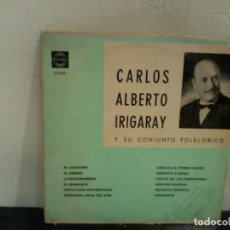 Discos de vinilo: CARLOS ALBERTO IRIGARAY Y SU CONJUNTO FOLKLÓRICO URUG. EX/EX. Lote 195456587