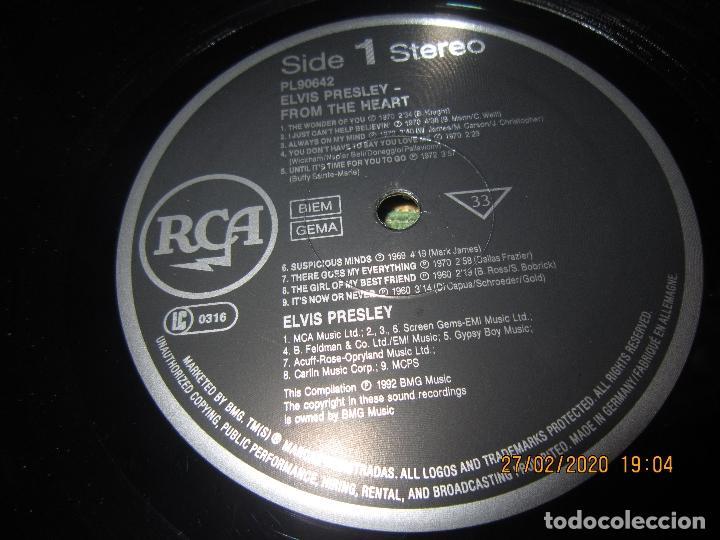Discos de vinilo: ELVIS PRELEY - ELVIS FROM THE HEART LP - EDICION ALEMANA - RCA RECORDS 1992 REMASTERED - - Foto 11 - 195457376