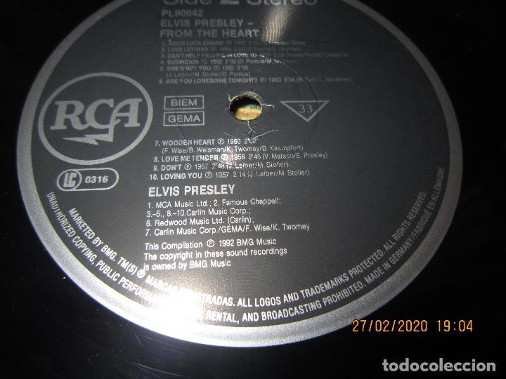 Discos de vinilo: ELVIS PRELEY - ELVIS FROM THE HEART LP - EDICION ALEMANA - RCA RECORDS 1992 REMASTERED - - Foto 14 - 195457376