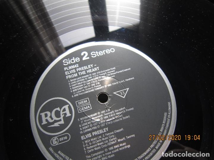 Discos de vinilo: ELVIS PRELEY - ELVIS FROM THE HEART LP - EDICION ALEMANA - RCA RECORDS 1992 REMASTERED - - Foto 15 - 195457376