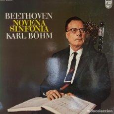 Discos de vinilo: BEETHOVEN NOVENA SIFONIA KASRL BOHM - PHILIPS - 1971. Lote 195457488