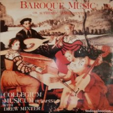 Discos de vinilo: BAROQUE MUSIC ON AUTHENTIC INSTRUMENTS - MADE IN HUNGARY - 1982. Lote 195459136