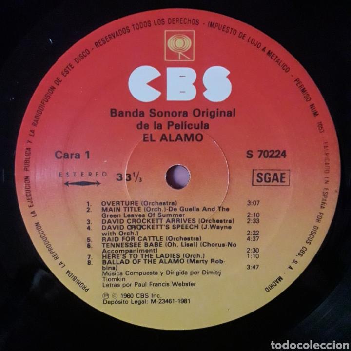 Discos de vinilo: EL ÁLAMO, DIMITRI TIOMKIN - Foto 3 - 195459410