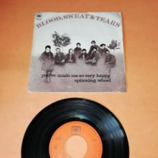Discos de vinilo: BLOOD,SWEAT & TEARS. YOU'VE MADE ME SO VERY HAPPY. CBS RECORDS, 1969. Lote 195460260